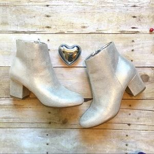 A New Day silver ankle booties